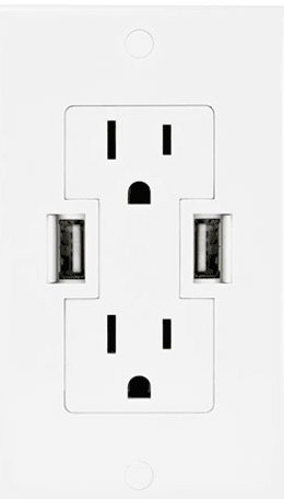 Other World Computing: Power2U AC/USB Wall Outlet