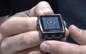 Mercedes Benz app on Pebble watch